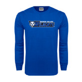 Royal Long Sleeve T Shirt-Daemen College Wildcats w/ Head