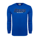 Royal Long Sleeve T Shirt-Daemen Wildcats
