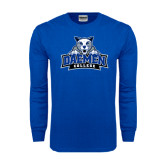 Royal Long Sleeve T Shirt-Official Logo Distressed