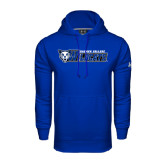 Under Armour Royal Performance Sweats Team Hoodie-Daemen College Wildcats w/ Head