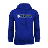 Royal Fleece Hoodie-Daemen College Wildcats w/ Head