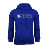 Royal Fleece Hoodie-Daemen College Wildcats w/ Head