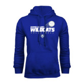 Royal Fleece Hoodie-Volleyball Swoosh