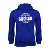 Royal Fleece Hoodie-Soccer Circle
