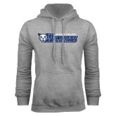 Grey Fleece Hoodie-Daemen College Wildcats w/ Head