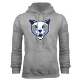 Grey Fleece Hoodie-Wildcat Head