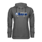 Adidas Climawarm Charcoal Team Issue Hoodie-Daemen College Wildcats w/ Head
