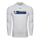 Under Armour White Long Sleeve Tech Tee-Daemen College Wildcats w/ Head