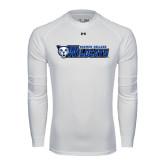 Under Armour White Long Sleeve Tech Tee-Daemen College Wildcats w/ Head
