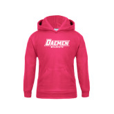 Youth Raspberry Fleece Hoodie-Daemen Wildcats