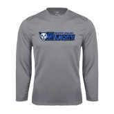 Performance Steel Longsleeve Shirt-Daemen College Wildcats w/ Head