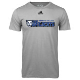 Adidas Climalite Sport Grey Ultimate Performance Tee-Daemen College Wildcats w/ Head