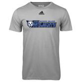 Adidas Climalite Sport Grey Ultimate Performance Tee-Daemen College Wildcats w/ Head