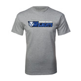 Grey T Shirt-Daemen College Wildcats w/ Head