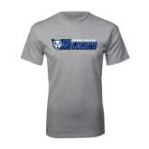 Grey T Shirt-Daemen College Wildcats w/ Head