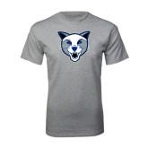 Grey T Shirt-Wildcat Head