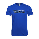 Next Level SoftStyle Royal T Shirt-Daemen College Wildcats w/ Head