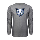 Grey Long Sleeve T Shirt-Wildcat Head