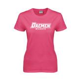 Ladies Fuchsia T Shirt-Daemen Wildcats