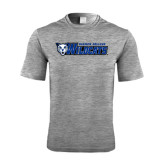 Performance Grey Heather Contender Tee-Daemen College Wildcats w/ Head