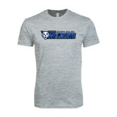 Next Level SoftStyle Heather Grey T Shirt-Daemen College Wildcats w/ Head