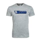 Next Level SoftStyle Heather Grey T Shirt-Daemen College Wildcats w/ Head