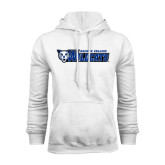 White Fleece Hoodie-Daemen College Wildcats w/ Head