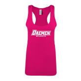 Next Level Ladies Raspberry Ideal Racerback Tank-Daemen Wildcats