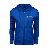 ENZA Ladies Royal Fleece Full Zip Hoodie-Daemen College Wildcats w/ Head