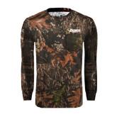 Realtree Camo Long Sleeve T Shirt w/Pocket-Daemen Wildcats