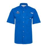 Columbia Bonehead Royal Short Sleeve Shirt-Official Logo