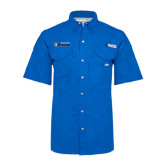 Columbia Bonehead Royal Short Sleeve Shirt-Daemen College Wildcats w/ Head