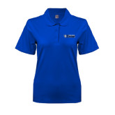 Ladies Easycare Royal Pique Polo-Daemen College Wildcats w/ Head