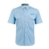 Light Blue Short Sleeve Performance Fishing Shirt-Daemen Wildcats
