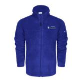 Columbia Full Zip Royal Fleece Jacket-Daemen College Wildcats w/ Head