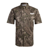 Camo Short Sleeve Performance Fishing Shirt-Daemen Wildcats