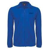 Fleece Full Zip Royal Jacket-Daemen Wildcats