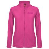 Ladies Fleece Full Zip Raspberry Jacket-Daemen Wildcats