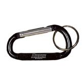 Black Carabiner with Split Ring-Daemen Wildcats Engraved