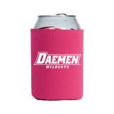 Neoprene Hot Pink Can Holder-Daemen Wildcats