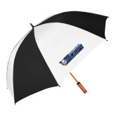 62 Inch Black/White Umbrella-Daemen College Wildcats w/ Head