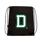 Nylon Black Drawstring Backpack-Dartmouth D