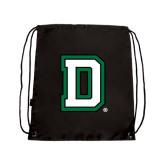 Nylon Black Drawstring Backpack-Dartmouth D
