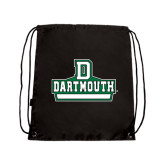 Nylon Black Drawstring Backpack-D Dartmouth Stacked