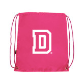 Nylon Pink Drawstring Backpack-Dartmouth D