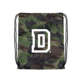 Nylon Camo Drawstring Backpack-Dartmouth D