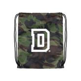 Nylon Camo Drawstring Backpack-Dartmouth D