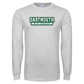 White Long Sleeve T Shirt-Dartmouth Big Green