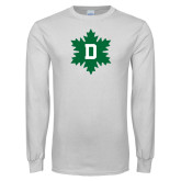 White Long Sleeve T Shirt-D Snowflake