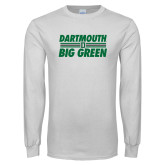 White Long Sleeve T Shirt-Big Green